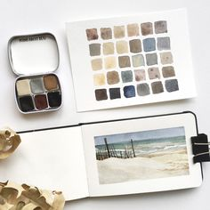 Handmade Watercolors - Subtle Earth Colors - 6 Color Set - Titan Buff, Indigo, Ochre, Cassel Earth - for Painting and Calligraphy Watercolor Sketchbook, Artist Sketchbook, Watercolor Illustration, Watercolour Painting, Painting & Drawing, Earth Pigments, Guache, Sketchbook Inspiration, Urban Sketching