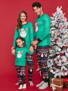 Christmas Snowman Print Family Pajama Sets - multicolor .  christams   christmaspajamas  familypajamas Family d9e3edc3e