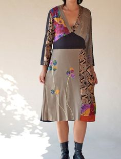 Upcycled/Eco friendly /Patchwork/ hand made Applique by Danideng, $129.00