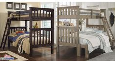 Wooden Bunk Bed Twin Full Solid Wood Loft Bunkbed Kids Teens Beds Furniture New