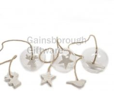 Glass and Wood Bauble Decorations, 3a @ gainsboroughgiftware.com
