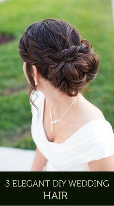 3 Elegant DIY Wedding Hair Styles | Mine Forever - http://1pic4u.com/2015/08/31/3-elegant-diy-wedding-hair-styles-mine-forever/
