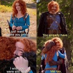 """I wish you were still here"" - Merida and King Fergus #OnceUponATime"