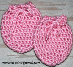 Crochet 0-3 Month old Baby Mittens
