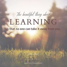 """""""The beautiful thing about learning is that no one can take it away from you"""" - B.B. King #bused #motivationmonday"""