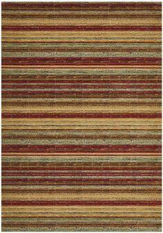 Byblos Rustic Striped Red Rug – Rug Emporium Trendy Colors, Vivid Colors, Colours, Hard Floor, Red Rugs, Rug Cleaning, Vintage Wool, Oriental Rug, Rustic