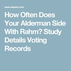 How Often Does Your Alderman Side With Rahm? Study Details Voting Records