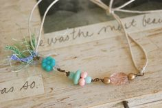 Fairy land. vintage beaded string ,friendship bracelet. tiedupmemories