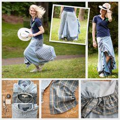 recycl ruffl, ruffl skirt, craft, skirts, diy fashion