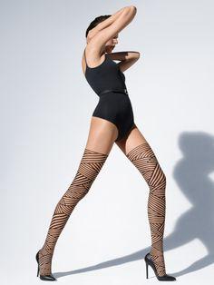 Sexy pantyhose flame pattern