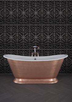 Hand gilded can be completed in a number of different metal finishes to include, Copper, Gold, Silver, Pink Silver and Burnished Bronze plus a number of variegated effects. Cast Iron Bath, Copper Bath, Roll Top Bath, Bathtubs, Metal Finishes, Gold Leaf, Bathroom Accessories, Bespoke, Bathrooms