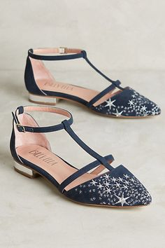 Billy Ella Embroidered Star Flats #anthropologie