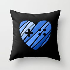 Gamer Boy Blue Throw Pillow by UMe Images | Society6