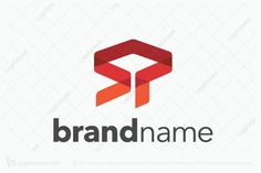 Logo for sale: SP Logo  sp letters  ps letters  letter p  letter s  s letter  p letter  typographical  typography  company  initials logo  logos  red  orange  alphabet  flat  new  p s letters  s p letters  s p logo  corporate  business