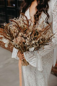 Rustic Luxe | Earthy Bohemian Wedding Inspiration with Dried Flowers and Macrame Bohemian Wedding Inspiration, Bohemian Bride, Rustic Luxe, Warehouse Wedding, Luxe Wedding, Stunning Dresses, Bridal Portraits, Dried Flowers, Earthy