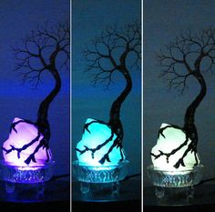 Wire Tree Of Life SPiRiT sculpture on natural by CrowsFeathers
