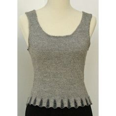 Valley Yarns123 Evening Tank free knitting pattern with bead detail and more…