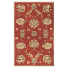 Would be beautiful in kitchen window nook area!  Found it at Wayfair - Dynasty All Over Persian Vine Red Rug