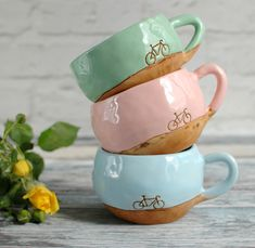 Ceramic cup with bicycle dishwishes.ru