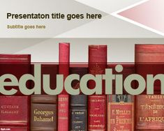 Free education PowerPoint template for presentations on education and PowerPoint for teachers with word Education in the slide design #powerpoint
