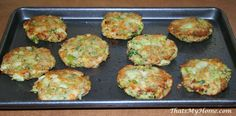 Broccoli Cheese Patties are made using frozen broccoil, bread and cheese.