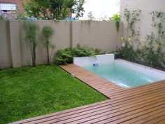 Small Swimming Pools, Small Backyard Pools, Backyard Pool Designs, Small Pools, Swimming Pools Backyard, Swimming Pool Designs, Pool Landscaping, Backyard Patio, Small Inground Pool