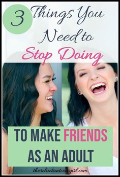 Struggling to make good friends as an adult? You may be doing some of these self-sabotaging behaviors! Here is how to make friends as an adult and ditch your unhealthy relationship patterns. Finding New Friends, Make New Friends, Best Friends, Finding Passion, How To Become Happy, All About Mom, Motivation Goals, Self Care Activities, Social Skills