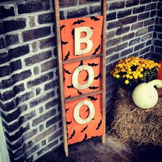 Boo-tiful ladder! Crafted from tobacco sticks. Happy Halloween!