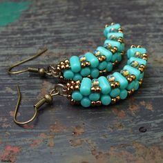 20130901rolling73.jpg (500×500) Earrings made of Rulla beads