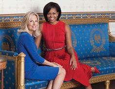 Dr Jill Biden and First Lady Michelle Obama