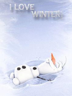 DISNEY OLAF GIF, I LOVE WINTER                                                                                                                                                                                 More
