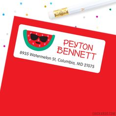Cool Watermelon Address Labels - Sheet of 30 One In A Melon, Address Labels, Paper Goods, Watermelon, Parties, Party Ideas, Printables, Holidays, Cool Stuff