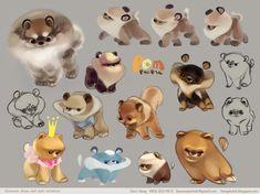 Pomeranian Character Design pg3 by kimchii.deviantart.com on @deviantART