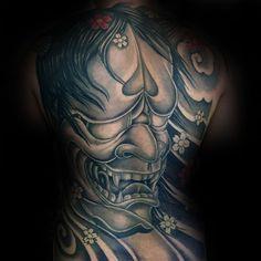 100 Hannya Mask Tattoo Designs For Men - Japanese Ink Ideas Samurai Mask Tattoo, Hannya Mask Tattoo, Japan Tattoo Design, Tattoo Designs Men, Tattoo Ideas, Mens Fashion, Tattoos, Koi, Inspiration