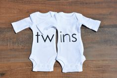 Hey, I found this really awesome Etsy listing at https://www.etsy.com/listing/240609597/twins-twin-outfits-twin-matching-onesies