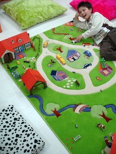 Interactive Play Rug Farm By The Little Kidz Closet