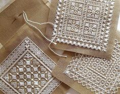 Hardanger Embroidery Tutorial for more free pattern Hardanger Embroidery, Hand Embroidery Stitches, Embroidery Techniques, Cross Stitch Embroidery, Cross Stitching, Machine Embroidery, Embroidery Designs, Vintage Embroidery, Geometric Embroidery
