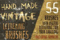Hand-Made Vintage Lettering Brushes