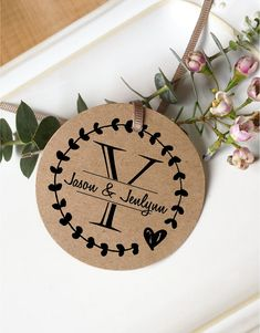 Custom Wedding Monogram Rubber Stamp Rustic by ThePrintMint