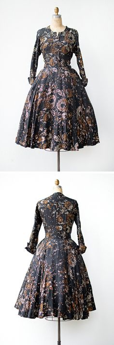 vintage 1950s dress | Gone the Flowers Dress