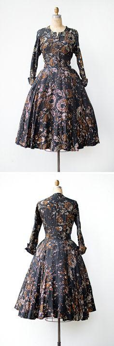 vintage 1950s dress | Gone the Flowers Dress