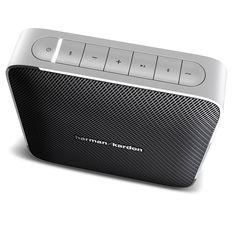 Harman Kardon Esquire Portable Wireless Bluetooth Stereo Speaker System (Black) High End Speakers, Stereo Speakers, Bluetooth Speakers, Sony Electronics, Surround Sound Speakers, Audio Design, Harman Kardon, Speaker System, Logitech