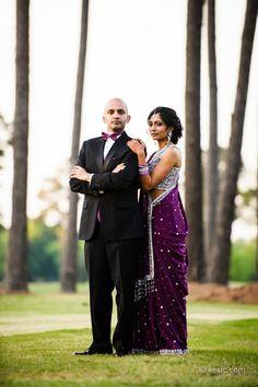 North Carolina Dramatic Purple Indian Wedding Reception - 3