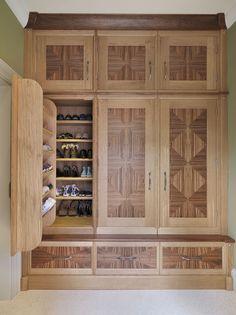 Chiselwood bespoke shoe and coat cupboard