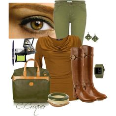 Hazel outfit which would work great for a DYT Type 3 woman with hazel eyes.