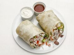 Food Network Magazine's Bean and Tofu Burritos come in under 500 calories and are a good vegetarian option for when you're craving Mexican food.