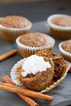 Flaxseed cinnamon bun muffins #dairyfree #keto #hflc #keto #highfat #paleo