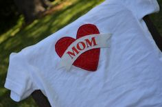 Baby Boy Tatoo Bodysuit - I LOVE MOM - Toddler T Shirt - Perfect for Valentines Day and Mothers Day