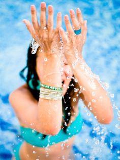 Abkühlung für das Gesicht mit Thermalsprays