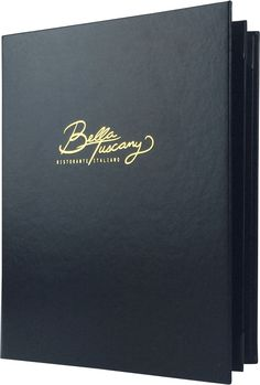 Bella Tuscany - 385159 - Create an attractive arrangement of your menu items with menu covers from Menu Designs. We have a large selection of menu covers made from the finest materials. Whether you're a café interested in menu boards or a five star dining establishment who's looking for leather menu covers, we're sure you'll find the perfect menu covers for your restaurant.
